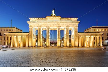Berlin - Brandenburg Gate at night in Germany
