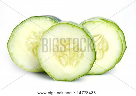Fresh Cucumber Isolated On White Background