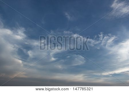 Beautiful Blue sky with clouds background. Cloudscape