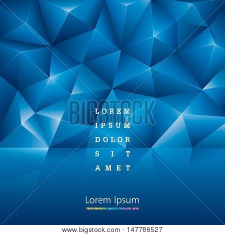 Abstract geometric pattern blue background.