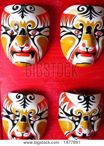 Four Chinese Masks
