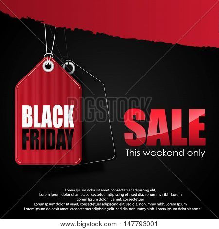 Illustration of  Black friday Sale on black background