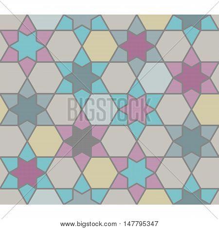 Seamless geometric pattern, Islamic art, Moroccan style backdrop