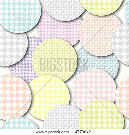 Seamless background pattern. Abstract circles pattern with a imitation of relief