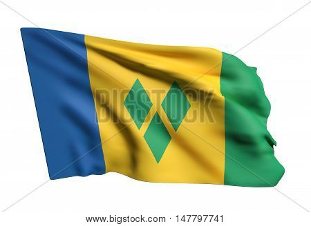 Saint Vincent And The Grenadines Flag Waving
