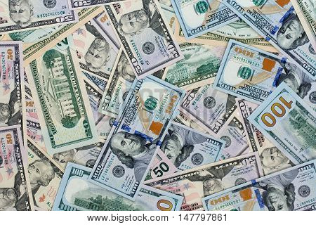 USA dollar money banknotes texture background - finance concept