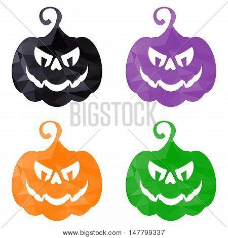 Halloween Pumpkins Low Poly