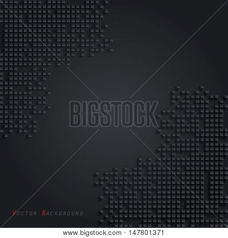 Abstract dark Vector geometric background with cubes (can be used in web design cover design book design website background advertising)