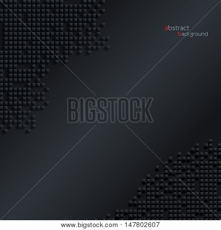 Abstract dark geometric background with cubes (can be used in web design cover design book design website background advertising)
