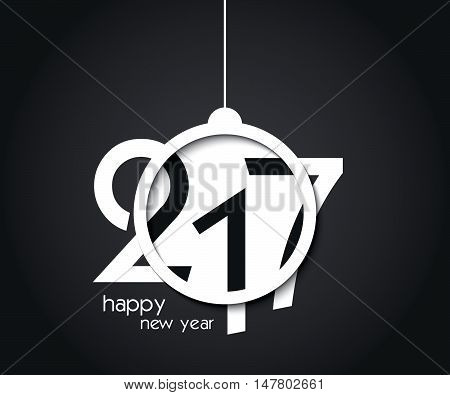 Design 2017 new year background. greetings card flyers invitation posters brochure banners calendar. Black and white colors