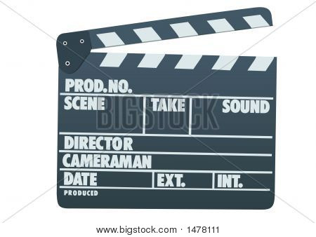 Front View Of Film Clap Board