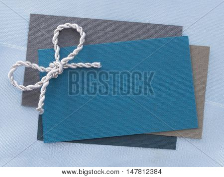 blank paper note on the sateen background