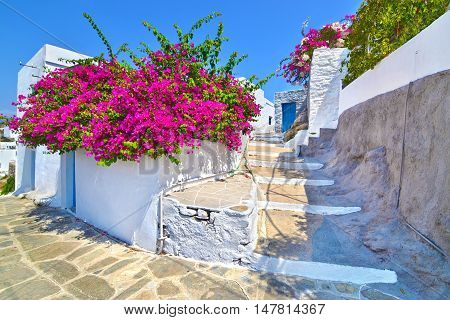 traditional architecture of Cyclades at Apollonia Sifnos Greece