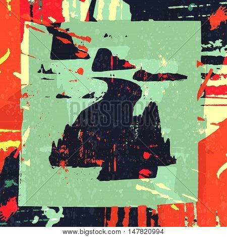 Graffiti Abstract beautiful colorful background grunge texture vector illustration