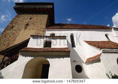 Viscri Fortified Church nearby Sighisoara Romania Transylvania