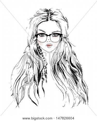 style boho fashion illustration