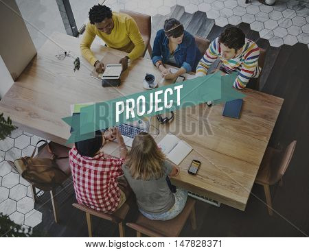 Project Management Forecast Operation Predict Concept poster