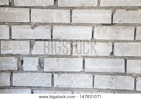 Texture of a gray wall during overhaul