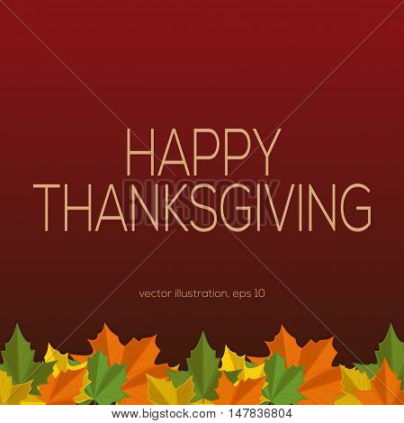Autumn vector background with fallen maple leaves. Happy Thanksgiving