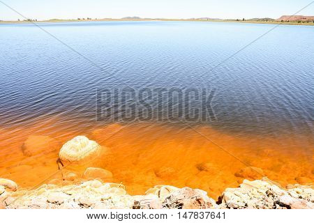 Red Polluted Lake