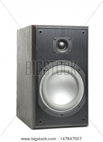 Hi-fi speaker isolated on white background