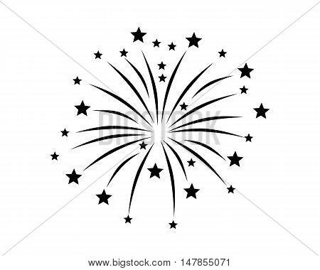Fireworks Display On White