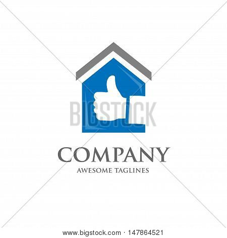 house and real estate best choice logo concept, great house logo,best property logo