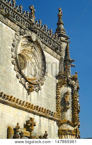 Templar Convent Christ in  Tomar, Portugal, Europe.