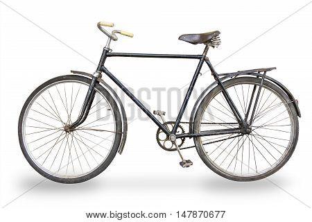 old bike isolated on white background, bike-isolated