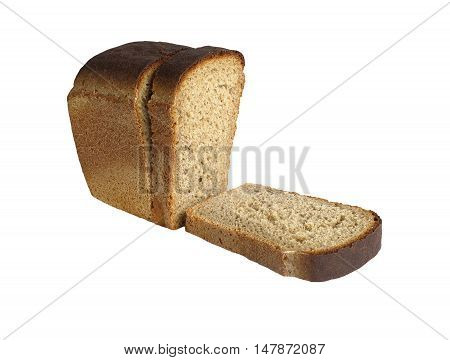tasty and healthy bread for a healthy diet. isolated on white background