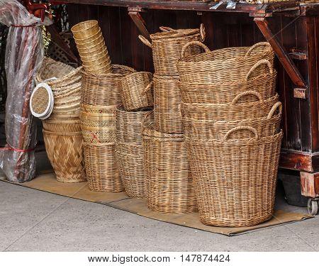 The Object handmade wicker basket beautiful, outdoor