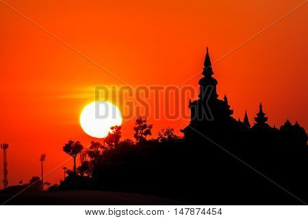 The Castle at sunset beautiful evening, outdoor