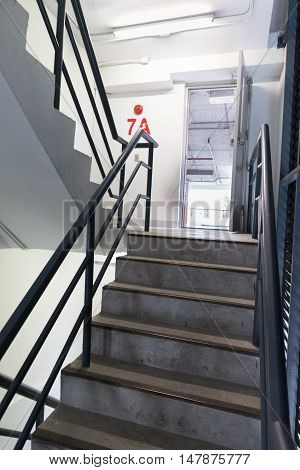 Fire Escape Stair In Building