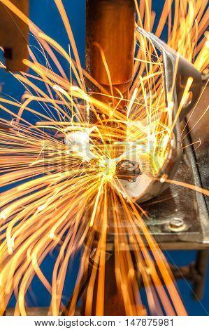 The Industrial spot nut welding automotive in thailand.