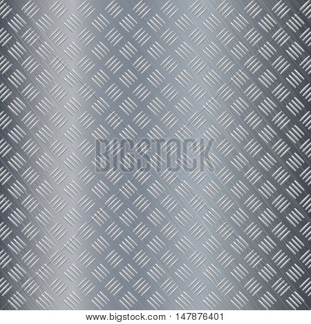 Metal background non slip surface. Vector illustration