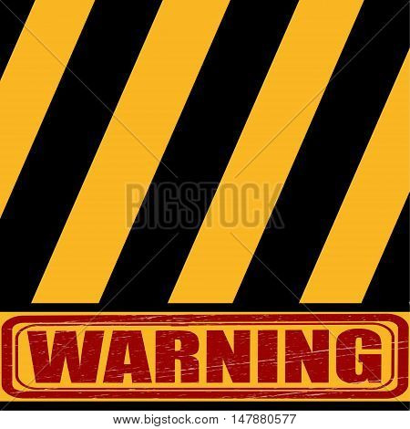 caution, yellow - black sign says about the danger