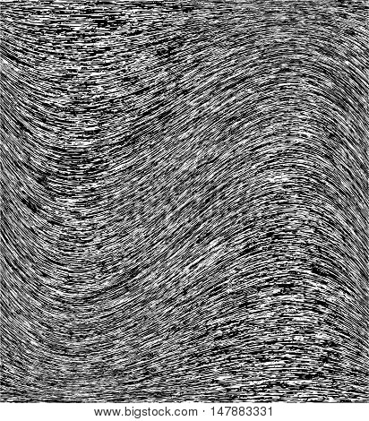 Black and white flecked wavy vector background