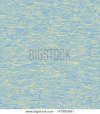 Striped abstract noisy background. Speckled blue yellow vector background