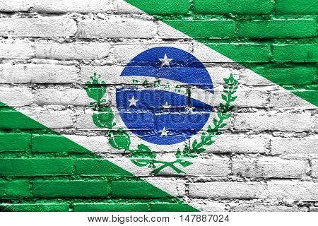 Flag Of Parana State, Brazil, Painted On Brick Wall