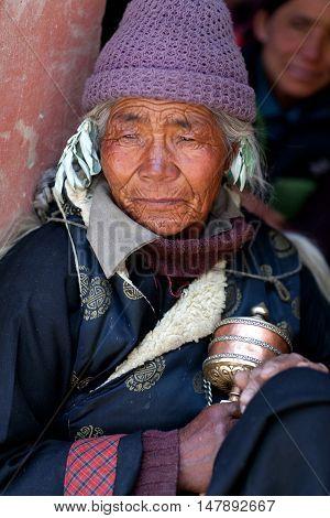 Tibetan Woman, Ladakh