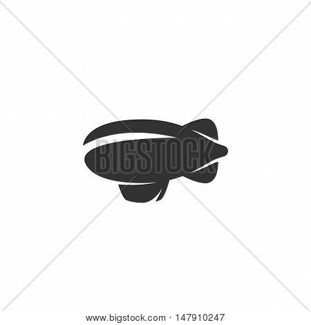 Blimp Icon isolated on a white background.