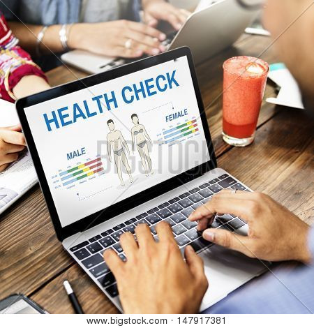 Health Check Annual Checkup Body Biology Concept