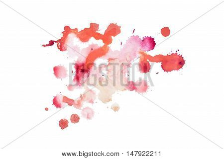 colorful retro vintage abstract watercolour aquarelle art hand painted on white background.