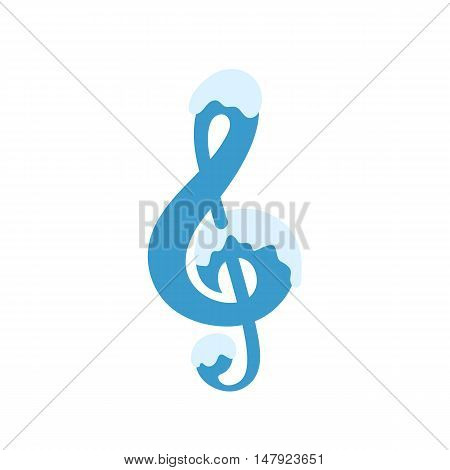 Illustration of clef isolated on white background VECTOR