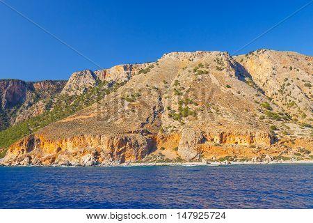 south coast of Crete near Agia Roumeli Greece