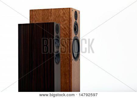 High End loudspekaer on white
