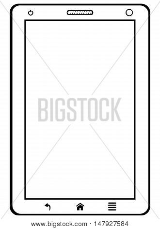 Vector Single Lineart Tablet Pc