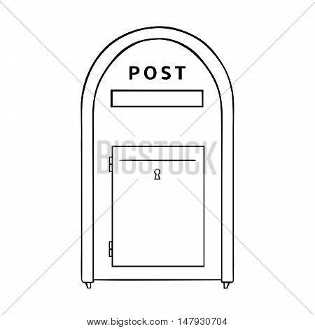 Vector Single Line Art Street Postbox.