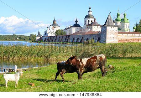Kirillo-Belozersky monastery by day near City Kirillov Vologda region Russia.
