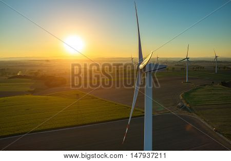 Sunset Above The Windmills